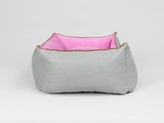 Selbourne Orthopaedic Walled Dog Bed - Fossil / Fuchsia, Small