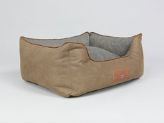 Monxton Orthopaedic Box Bed -  Cocoa / Deep Bronze, Small - 60 x 50 x 27cm