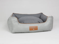 Selbourne Box Bed - Fossil / Charcoal, Large - 90 x 70 x 33cm