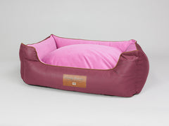 Selbourne Orthopaedic Walled Dog Bed - Grape / Fuchsia, Large