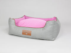 Selbourne Box Bed - Fossil / Fuchsia, Large - 90 x 70 x 33cm