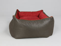 Beckley Orthopaedic Walled Dog Bed - Deluxe Edition - Mahogany / Cherry, Small