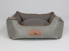 Beckley Orthopaedic Walled Dog Bed - Taupe / Chestnut, Small