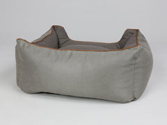 Beckley Orthopaedic Box Bed - Taupe / Chestnut, Small - 60 x 50 x 27cm