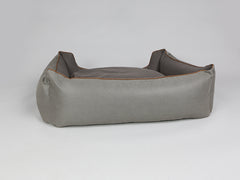 Beckley Orthopaedic Box Bed - Taupe / Chestnut, X-Large - 105 x 80 x 36cm