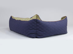 Country Box Bed - Midnight Blue, X-Large - 105 x 80 x 36cm