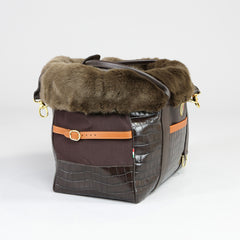 Holmsley Pet Carrier – Mahogany Brown