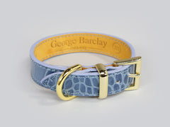 Holmsley Leather Collar – Regal Blue, X-Small, 24 - 28cm (9.5 - 11in.)