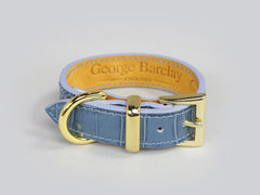 Holmsley Leather Collar – Regal Blue, XX-Small, 20 – 24cm (8 – 9.5in.)