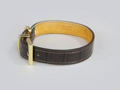 Holmsley Leather Collar – Mahogany Brown, Small, 28 - 32cm (11 – 12.5in.)
