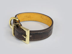 Holmsley Leather Collar – Mahogany Brown, X-Small, 24 - 28cm (9.5 - 11in.)