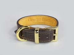 Holmsley Leather Collar – Mahogany Brown, XX-Small, 20 – 24cm (8 – 9.5in.)