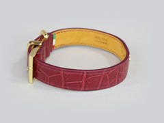 Holmsley Leather Collar – Oxblood Red, Small, 28 - 32cm (11 – 12.5in.)