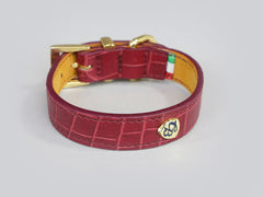 Holmsley Leather Collar – Oxblood Red </br> X-Small, 24 - 28cm (9.5 - 11in.)