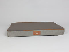 Beckley Dog Mattress - Taupe / Chestnut, Large