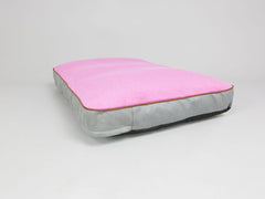 Selbourne Dog Mattress - Fossil / Fuchsia, Large