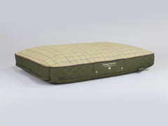 Country Mattress Bed - Olive Green, Large - 100 x 70 x 10cm