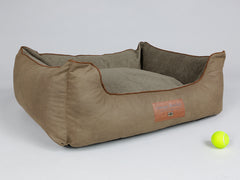 Exbury Orthopaedic Walled Dog Bed - Latte, Large