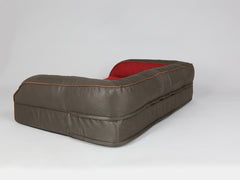 Beckley Sofa Bed - Deluxe Edition - Mahogany / Cherry, Large - 120 x 75 x 27cm