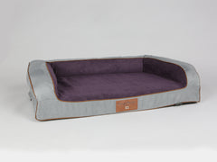 Beckley Sofa Bed - Silver / Vino, Large - 120 x 75 x 27cm