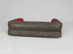 Beckley Sofa Bed - Deluxe Edition - Mahogany / Cherry, Medium - 90 x 65 x 22cm