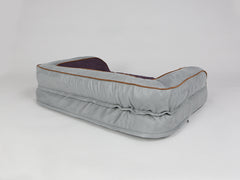 Beckley Dog Sofa Bed - Silver / Vino, Medium