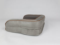 Beckley Sofa Bed - Taupe / Chestnut, Medium - 90 x 65 x 22cm