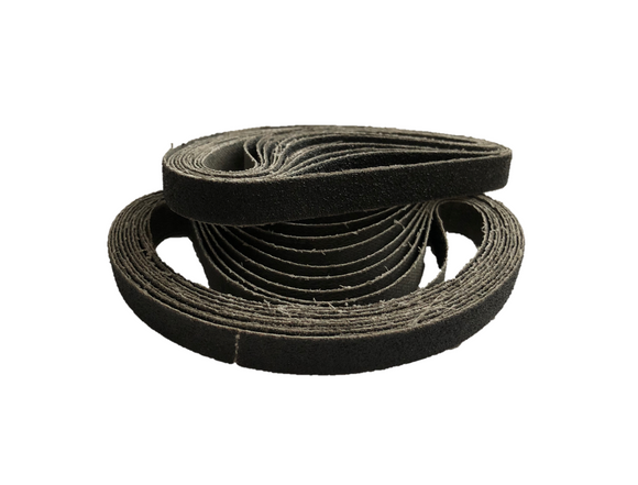 10 x 330mm Silicon Carbide File Sanding Belts - Packs of 10