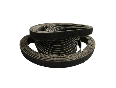 10mm x 330mm Silicon Carbide File Sanding Belts (P60) - Pack of 10