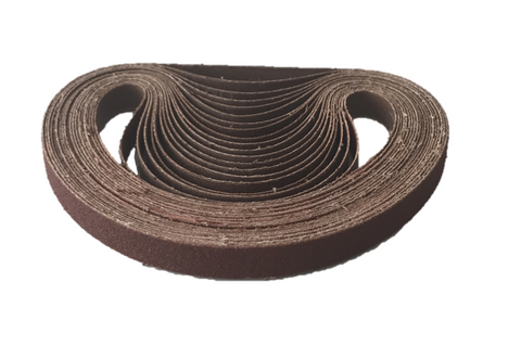 13mm x 457mm Aluminium Oxide File Sanding Belts - Pack of 10
