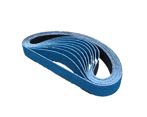 19mm x 457mm Zirconia File Sanding Belts - Pack of 10