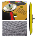 "6"" 150mm Dual Action Hook Loop DA Orbital Sander Sanding Backing Pad with 5/16th Thread"