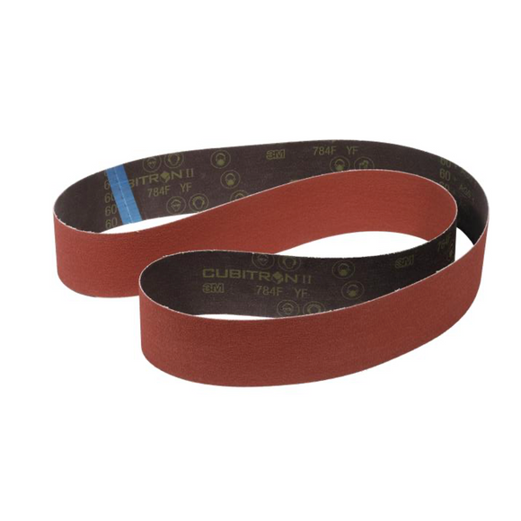 3M 784F CUBITRON II Cloth Belt 50mm x 1220mm (36+ Grit - 180+ Grit) Pack of 6