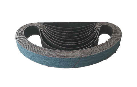 20mm x 520mm Zirconia File Sanding Belts - Packs of 10 (40 Grit-120 Grit)