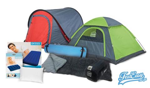 Camping - 1 Person. Festival Camping Combos from FestEasy.