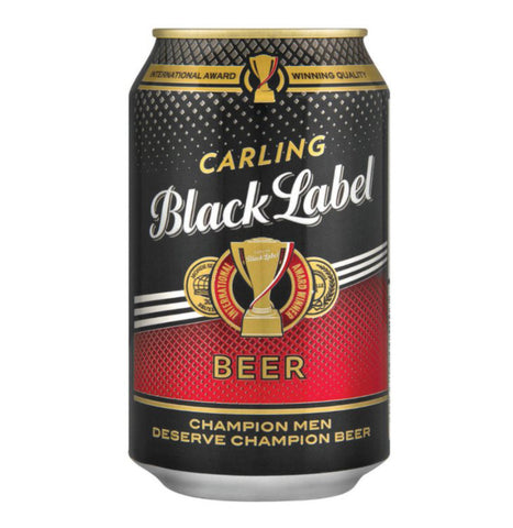 Black Label 330ml 6 Pack. Festival Beer from FestEasy.