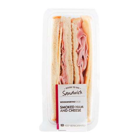 Woolworths Sandwich - Smoked Ham & Cheese. Festival Food from FestEasy.