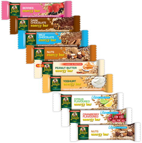 Jungle Energy Bars. Festival Snacks from FestEasy.