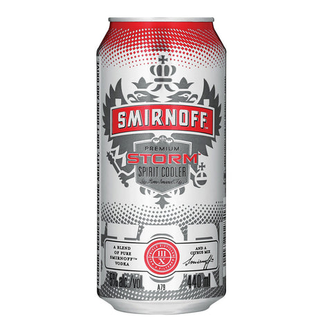 Smirnoff Storm 440ml 6 Pack. Festival Coolers from FestEasy.