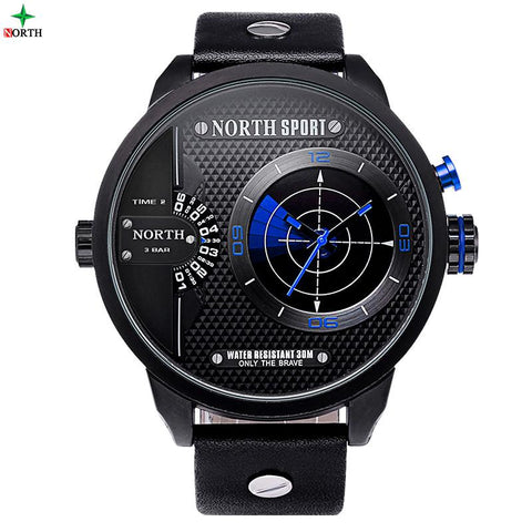 Montre NORTH Sport étanche 3 bars mouvement Radar