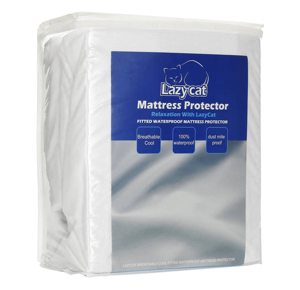 LazyCat Spring/Summer Collection Cooling Waterproof Mattress Protector Mattress Encasement(Twin/Full/Queen/King/Cal King)