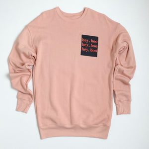 october hey, boo sweatshirt