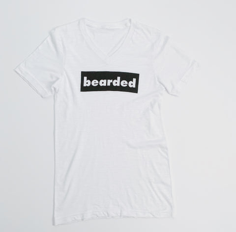may bearded vneck  tee
