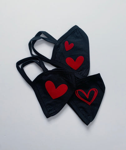 red heart mask 3-pack