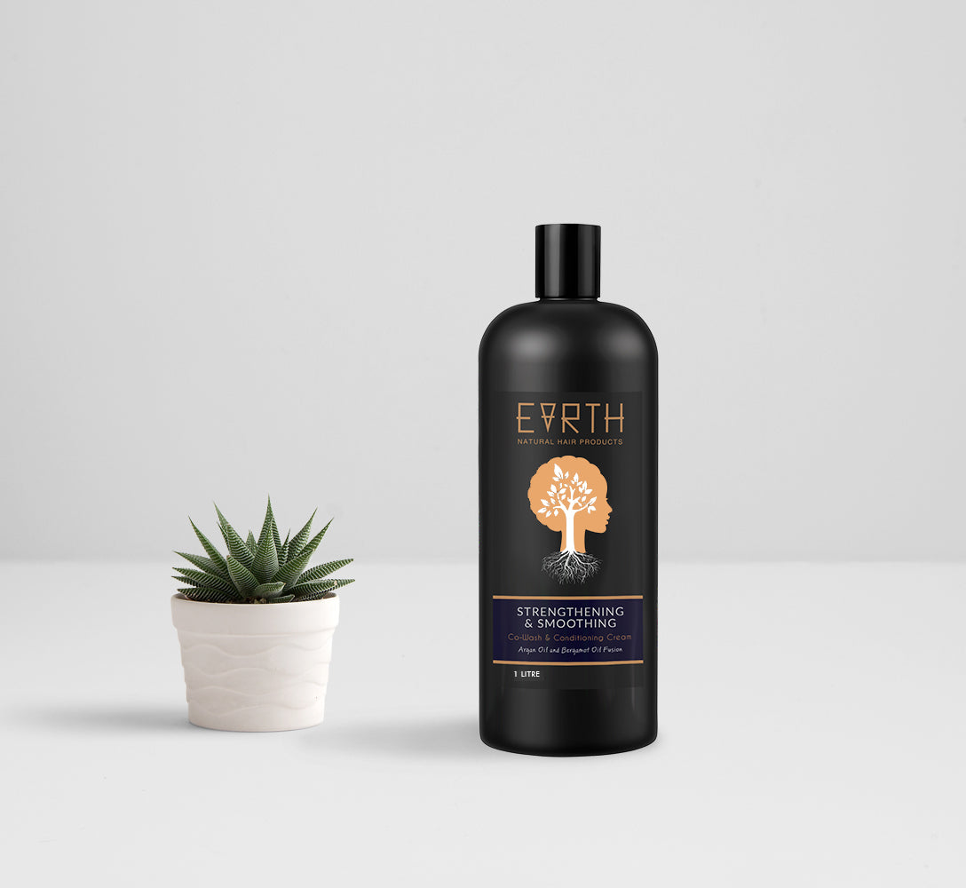 Earth Hair 1 Litre Strengthening & Smoothing Co-Wash & conditioning Cream