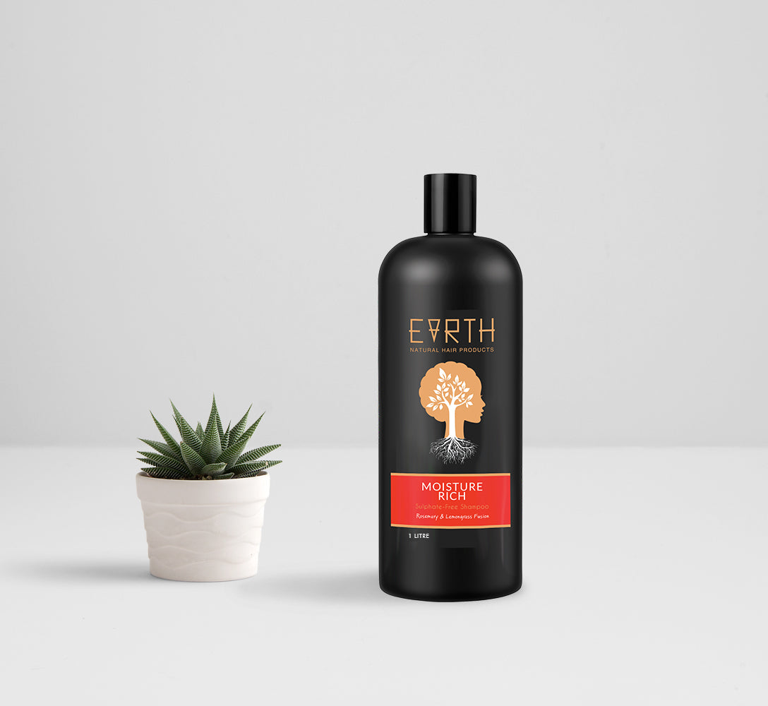 Earth Hair 1 Litre Moisture Rich Shampoo
