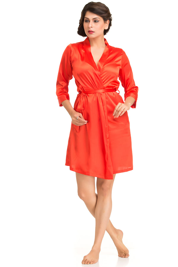 Satin Short length robe