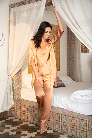Mustard Nightwear 4Pcs Set - Private Lives