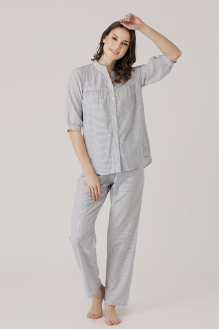 Comfortable front buttoned cotton Night suit