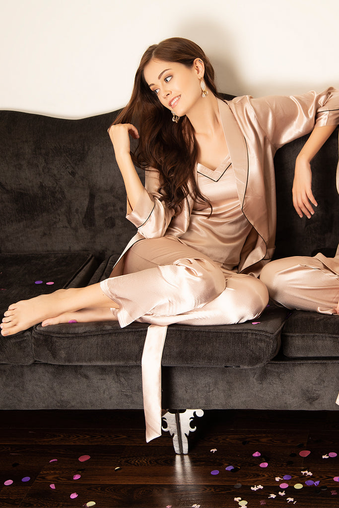 Top Pyjama & Robe in Satin - Private Lives